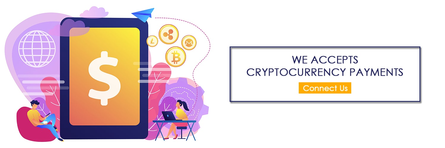 We Accept the Crypto Currency Payments